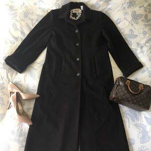 Talbots Long Wool Winter Coat Chocolate Brown